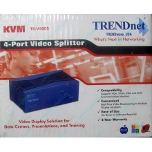 Видеосплиттер TRENDnet KVM TK-V400S (4-Port) в Ивановском, разветвитель видеосигнала TRENDnet KVM TK-V400S (Ивановское)